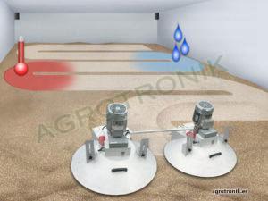 Conservación del grano: control de temperatura y humedad en grano almacenado